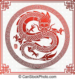 chinese Dragon - Illustration of Traditional chinese Dragon ...