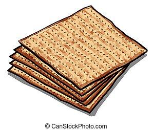 traditional jewish matzoh - illustration of traditional ...