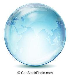 illustration of transparent globe on isolated background