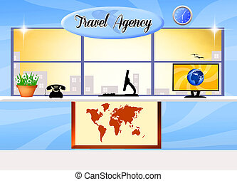 travel agency - illustration of travel agency