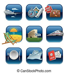 travel and resort icons - illustration of travel and resort ...