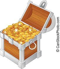 Illustration of treasure chest