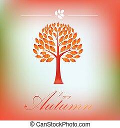 Tree autumn background
