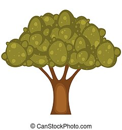 Illustration of tree on white background