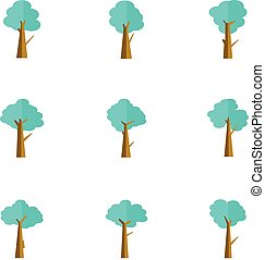 Illustration of tree set collection vector