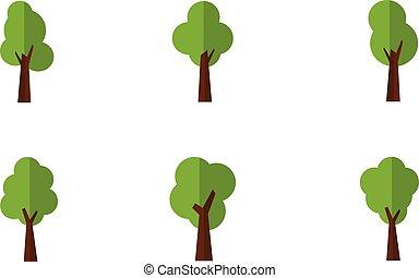 Illustration of tree set vector art
