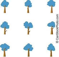 Illustration of tree vector flat stock