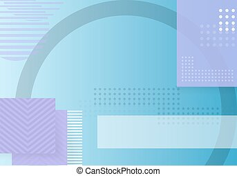 Trendy Abstract Shapes Geometric Background. 90s Style Hipster Funky Shapes Poster Template