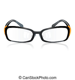 trendy eye-wear - illustration of trendy eye-wear on white ...