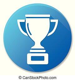 Trophy Blue Circle Icon Design