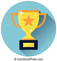 trophy icon concept design