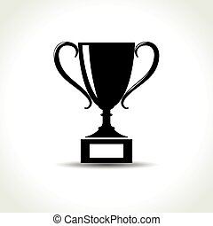 trophy icon on white background