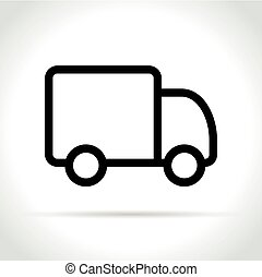 truck icon on white background