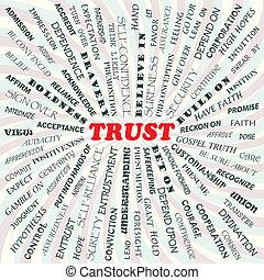 trust - illustration of trust concept.