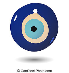 Illustration of Turkish evil eye be
