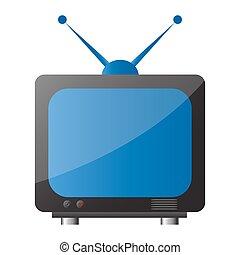 tv icon - illustration of tv icon on white background