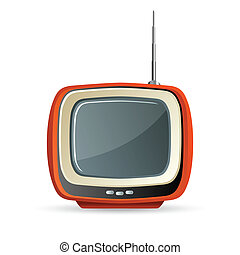 tv - illustration of tv on white background