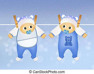 illustration of twins
