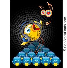 Illustration of Twitter Bird - brilliant, unique, musical, singing.