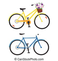 illustration of two bicycles