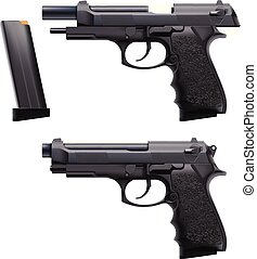 two conditions hand gun