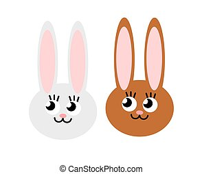 Illustration of two cute bunnies