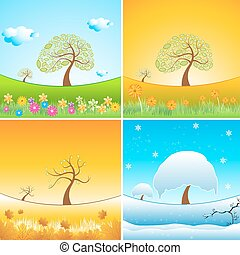 illustration of types of weather