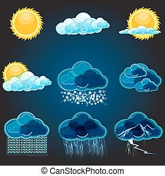 types of weathers - illustration of types of weathers