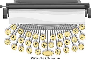 Illustration of typewriter.