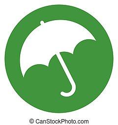 umbrella green circle icon