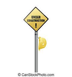 under construction board