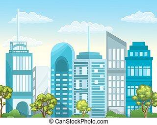 Illustration of urban landscape.