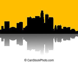illustration of urban skylines