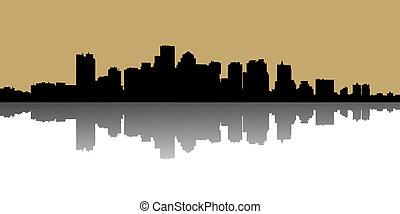 illustration of urban skylines