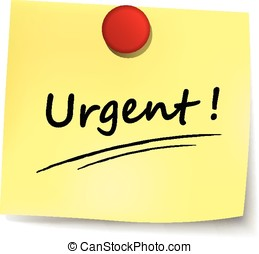 urgent yellow note