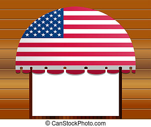 usa flagged color vector awning