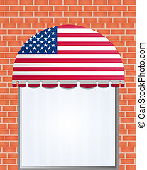 usa flagged color vector awning - illustration of usa...