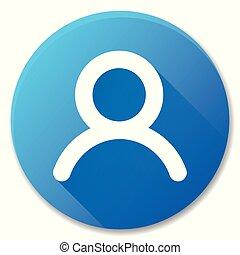 user blue circle icon design