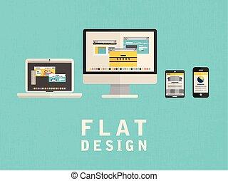 illustration of user interface design in flat