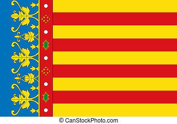 Valencia city flag
