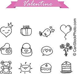 Illustration of valentine hand draw
