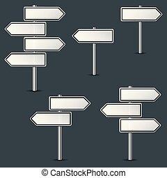 various arrows road signs
