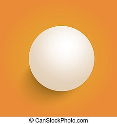 Vector 3D Ball Isolated on a Orange Background