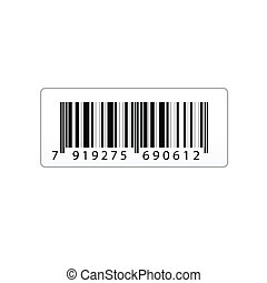 vector bar code - illustration of vector bar code sticker on...