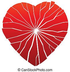 broken heart - illustration of vector broken heart