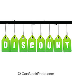 vector discount tag