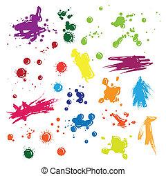 Illustration of vector drops set