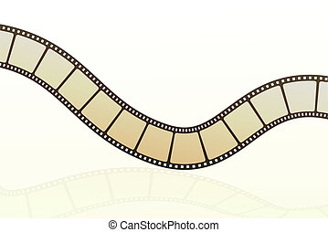 film strip - illustration of vector film strip on isolated ...