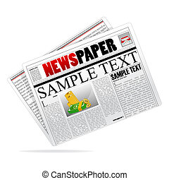 vector newspaper - illustration of vector newspaper on ...