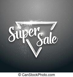 Vector Sale Banner Sticker Template. Super Sale Lettering